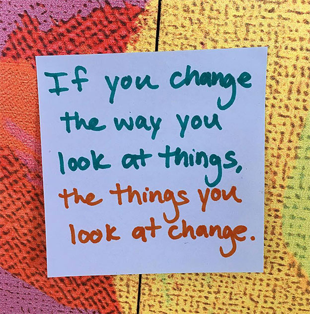 change perception quote diet