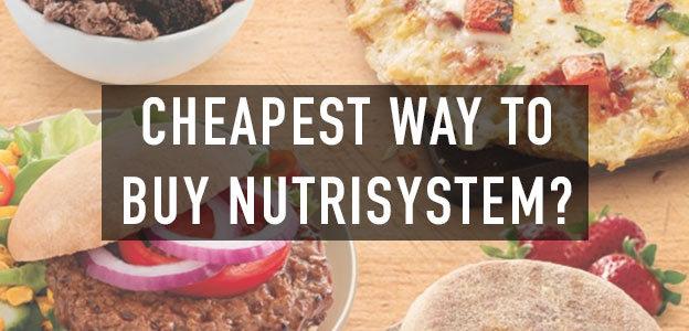 cheapest way buy nutrisystem
