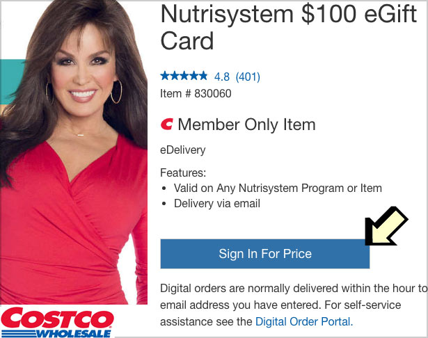 costco nutrisystem discount