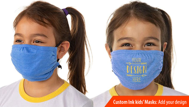 custom ink kids face masks