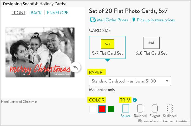 design snapfish holiday cards