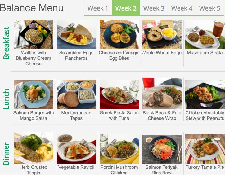 diet to go menu balance week 2