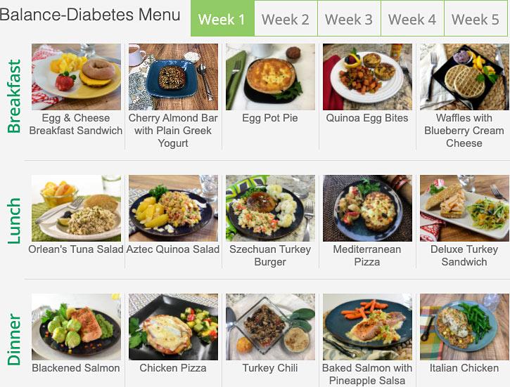 diet to go menu diabetes week 1