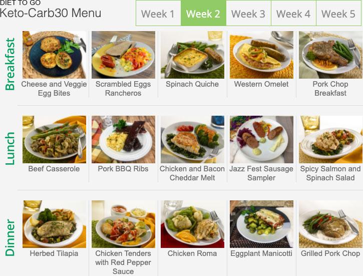 diet to go menu keto week 2
