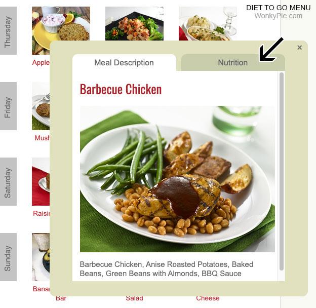 menu meal nutrition