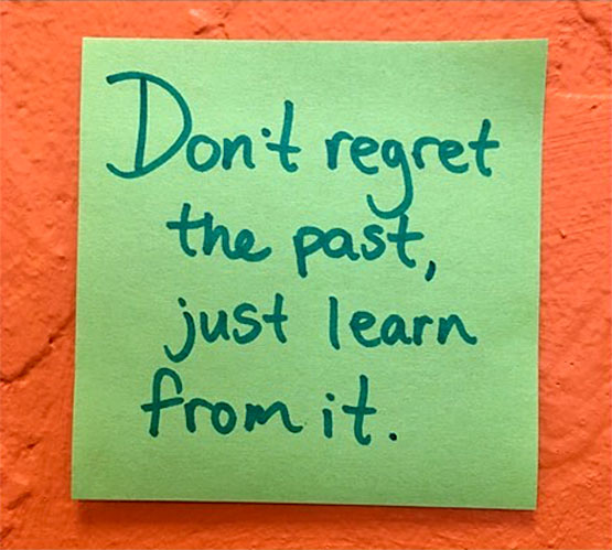 dont regret past learn quote