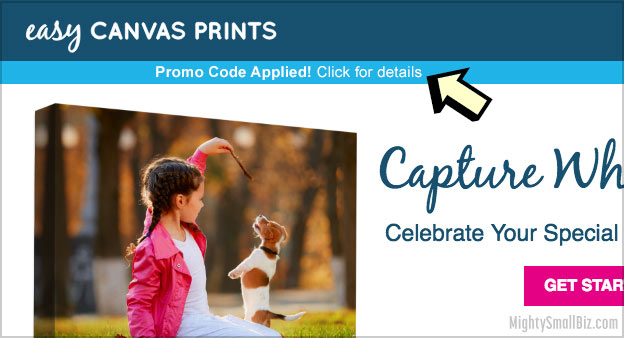 easy canvas prints promo code