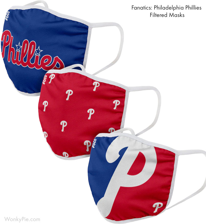 fanatics phillies face masks filtered