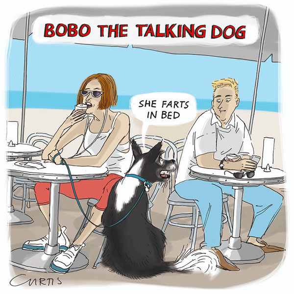woman gas dog