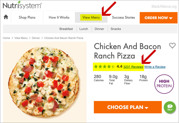 food reviews nutrisystem