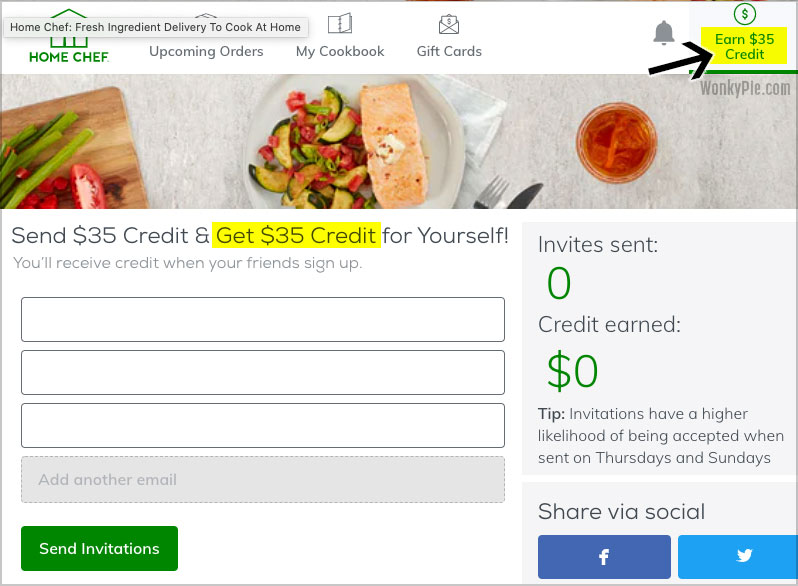 home chef referral credit