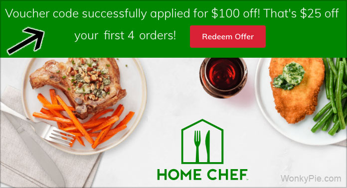 home chef voucher code applied
