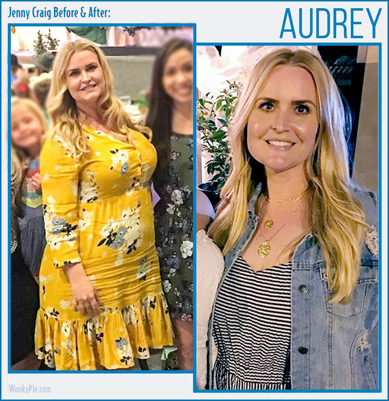 jenny craig before after audrey