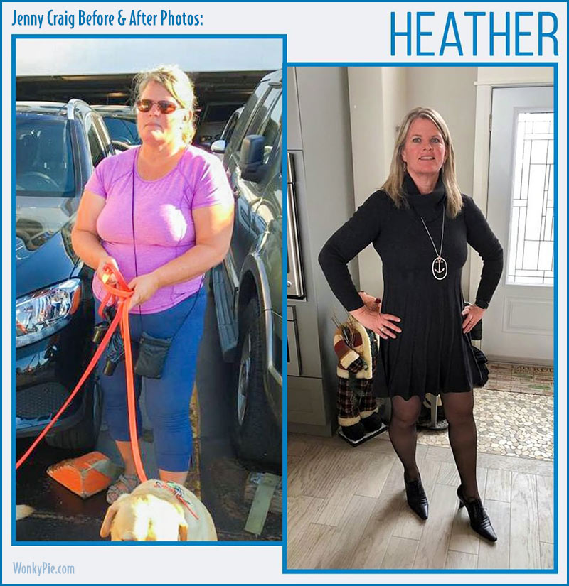 jenny craig before after heather
