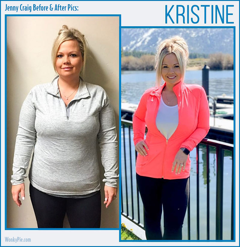 jenny craig before after pics kristine