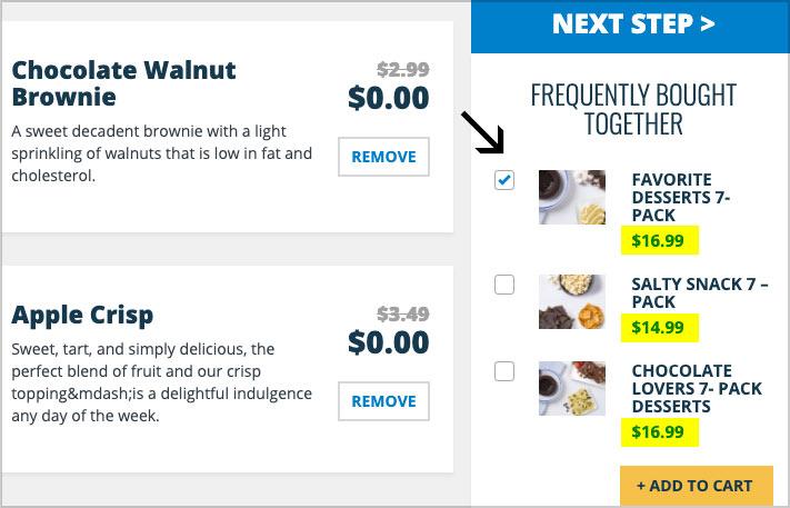 jenny craig food price la carte