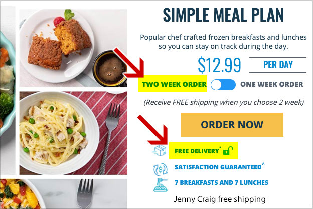 jenny craig free delivery