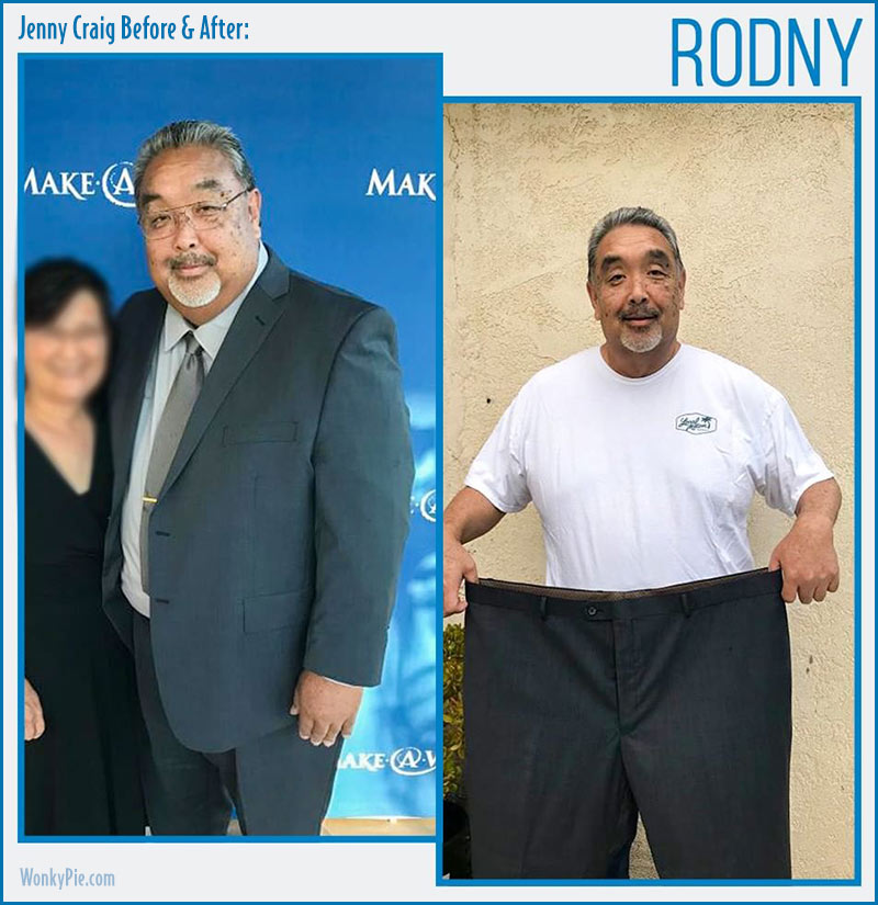jenny craig men before after rodney