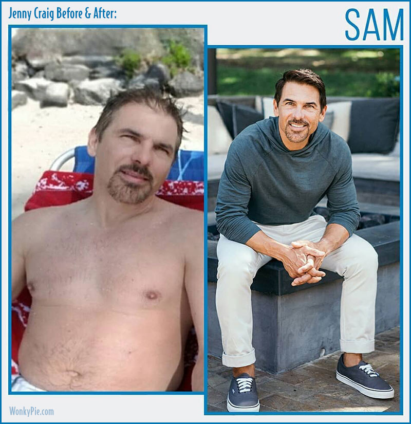 jenny craig men before after sam