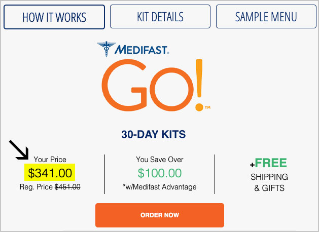 medifast go cost