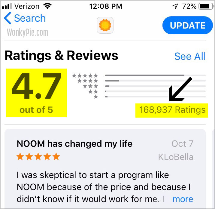 noom app user reviews ratings