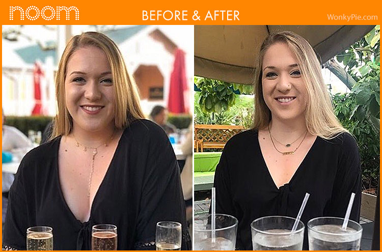 noom weight loss results pics maddie