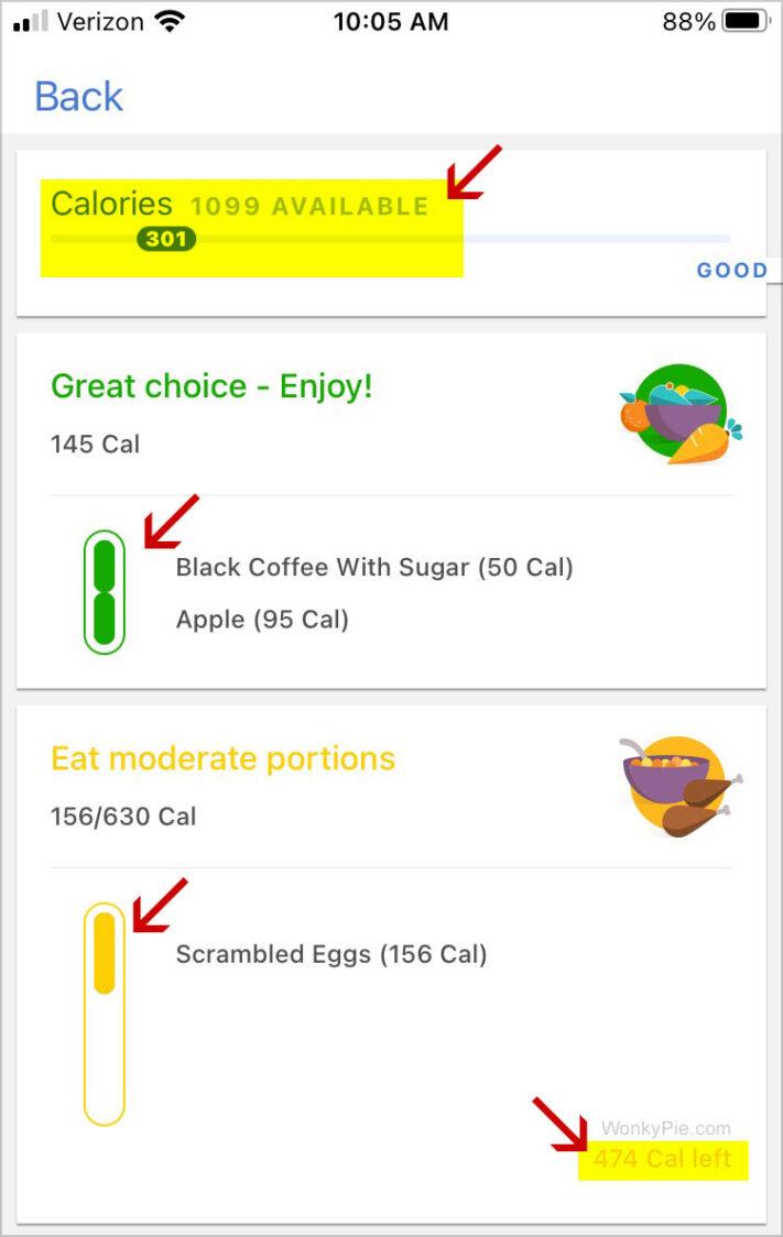 noom log meals app