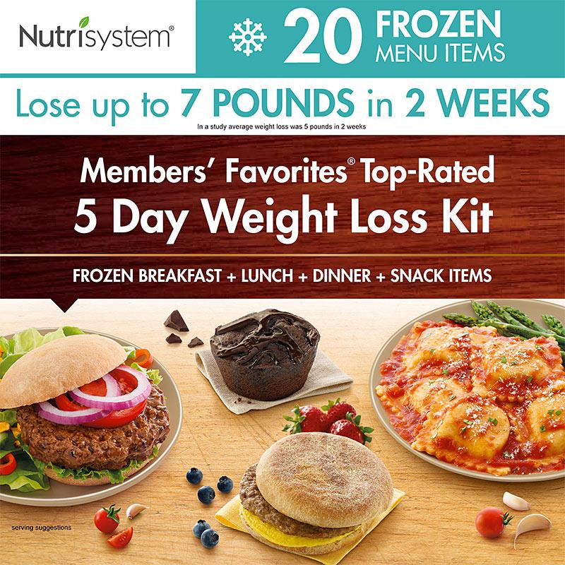 nutrisystem 5-day frozen kit
