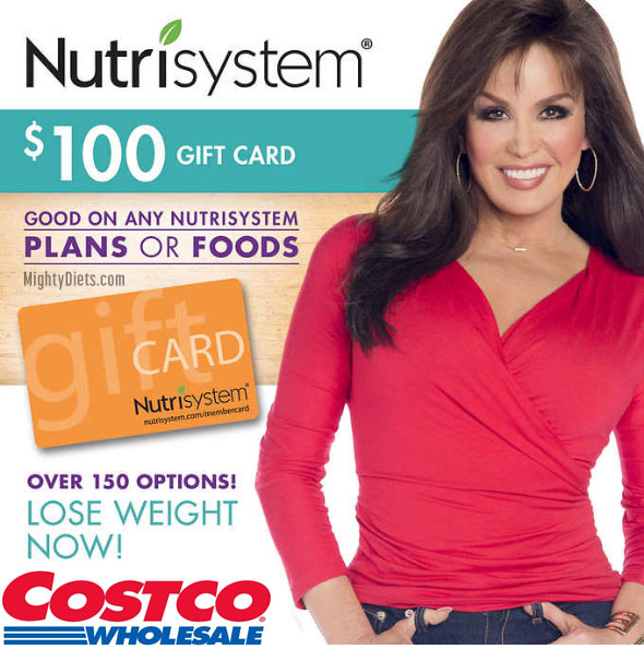 nutrisystem costco gift card discount