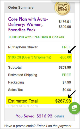nutrisystem coupon 100