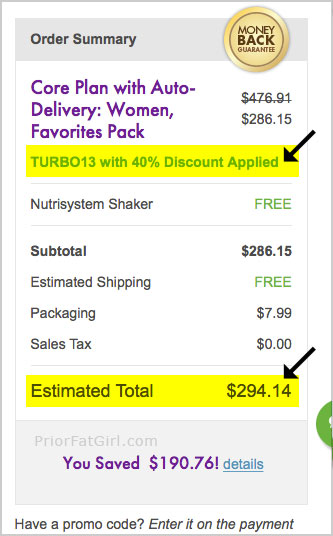nutrisystem coupon 40