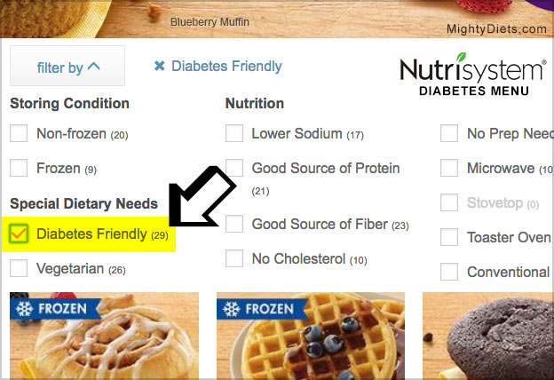 nutrisystem diabetes friendly food