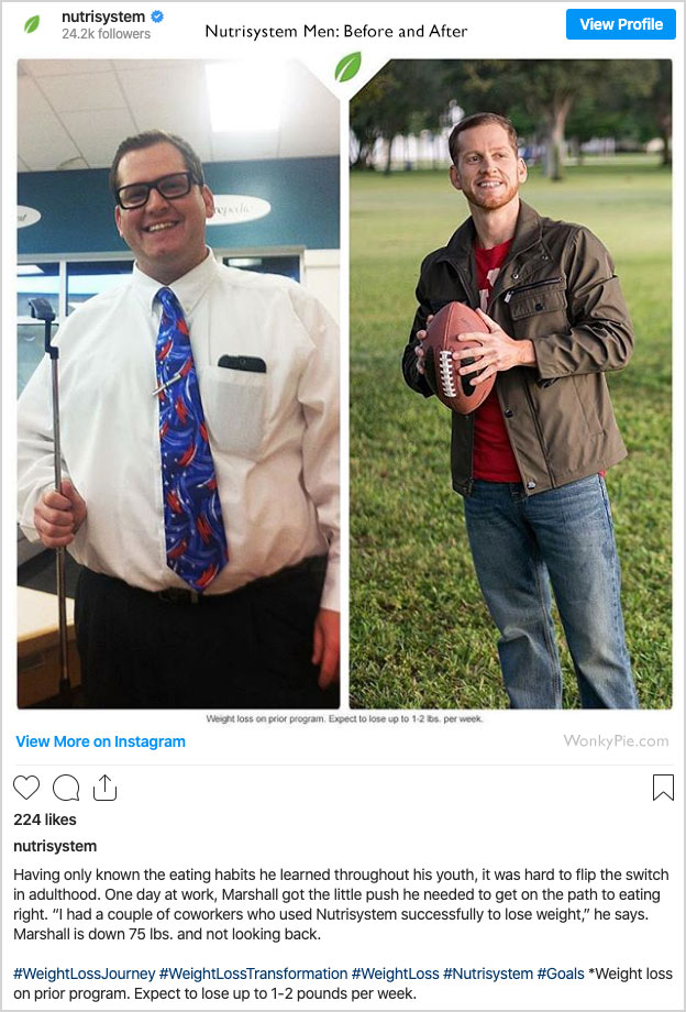 nutrisystem for men before and after photos