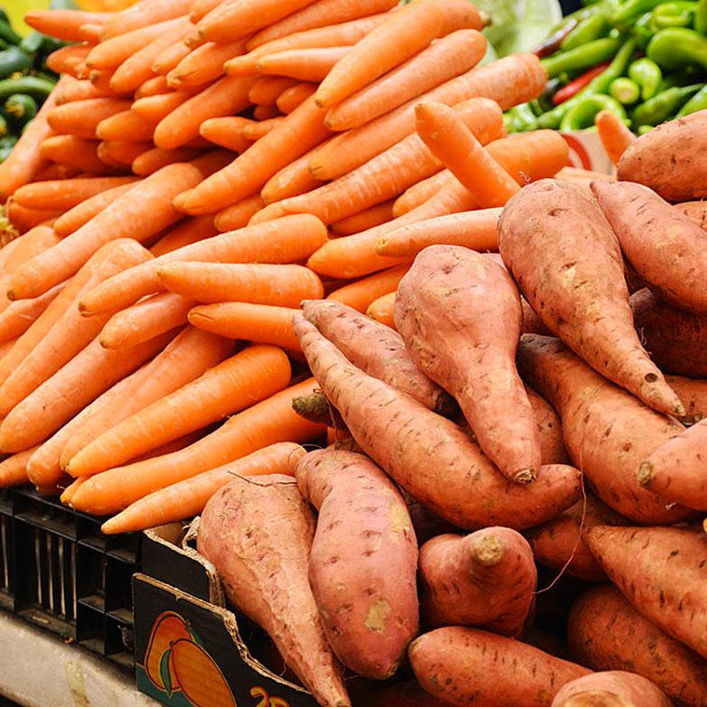 healthy orange vegetables