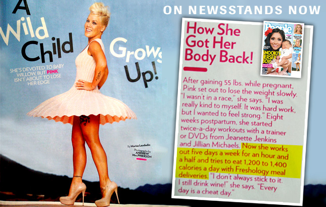 pink freshology people magazine
