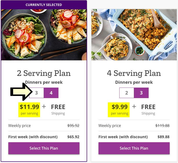 choose a purple carrot serving plan