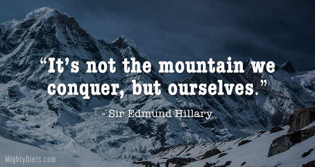 quote weight loss mountain