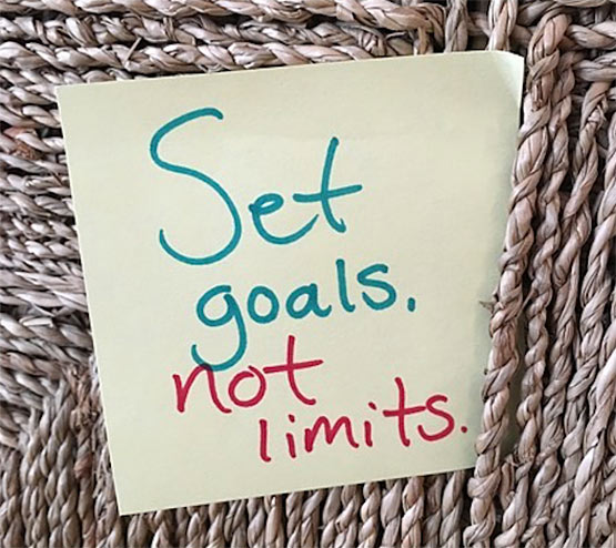 set goals not limits quote