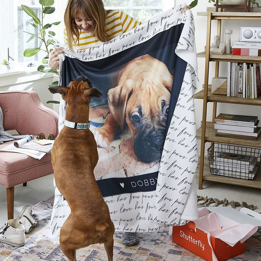 shutterfly fleece blanket review