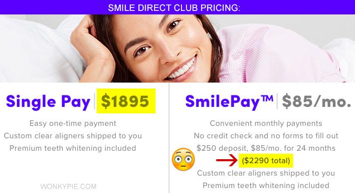 smile direct club price aligners
