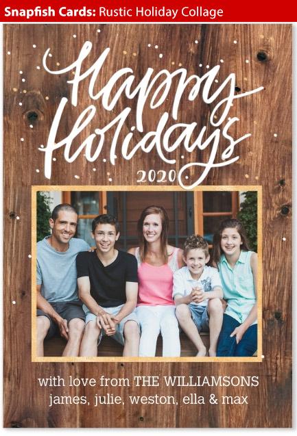 snapfish cards rustic holiday
