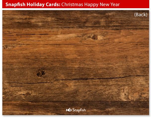 snapfish holiday cards christmas new year back
