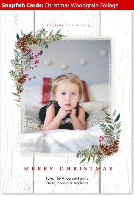 snapfish holiday cards christmas woodgrain
