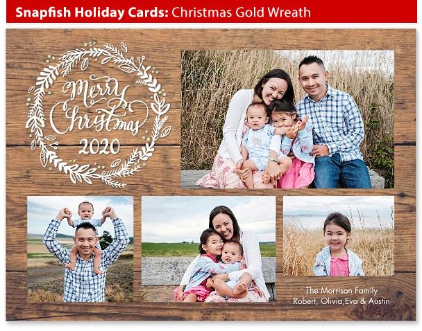 snapfish holiday cards christmas wreath