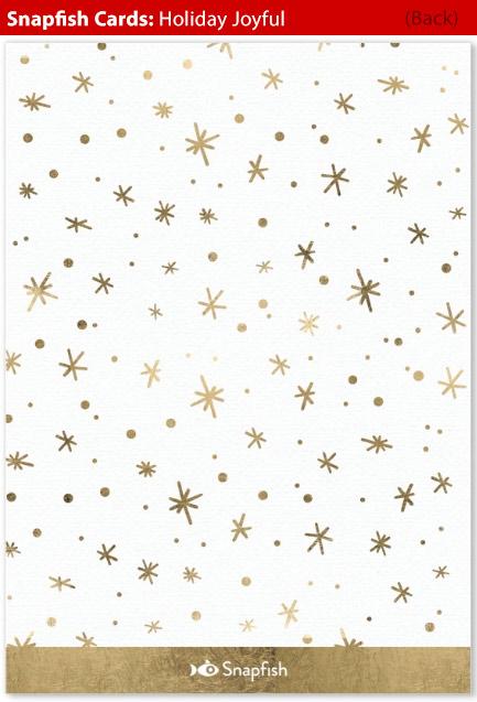 snapfish holiday cards joyful back