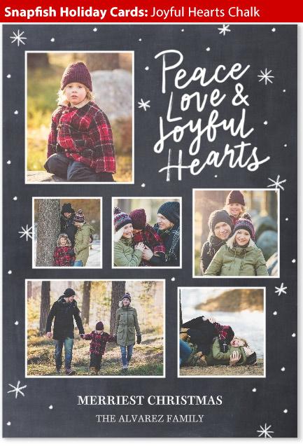 snapfish holiday cards joyful hearts