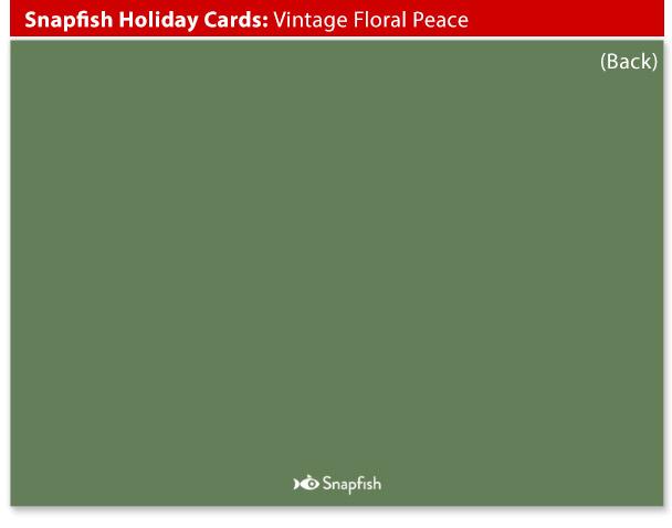 snapfish holiday cards vintage floral back