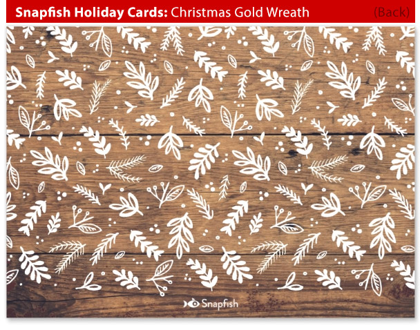 snapfish holiday cards wreath back