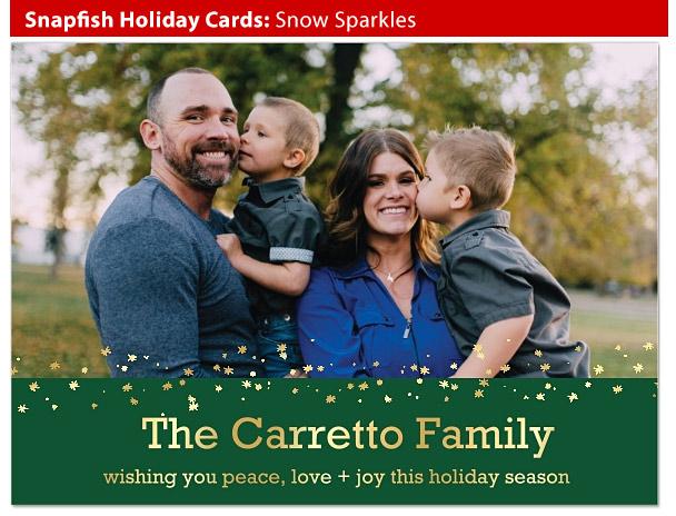 snapfish holiday snow sparkles