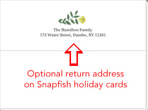 snapfish return address envelope